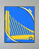 11x14 Logo Mat - Golden State Warriors