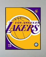 11x14 Logo Mat - Los Angeles Lakers