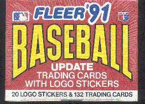 1991 Fleer MLB Baseball Update Complete Set Factory Sealed 132 Trading Cards 20 Logo Stickers. In great conditionn, in original package.