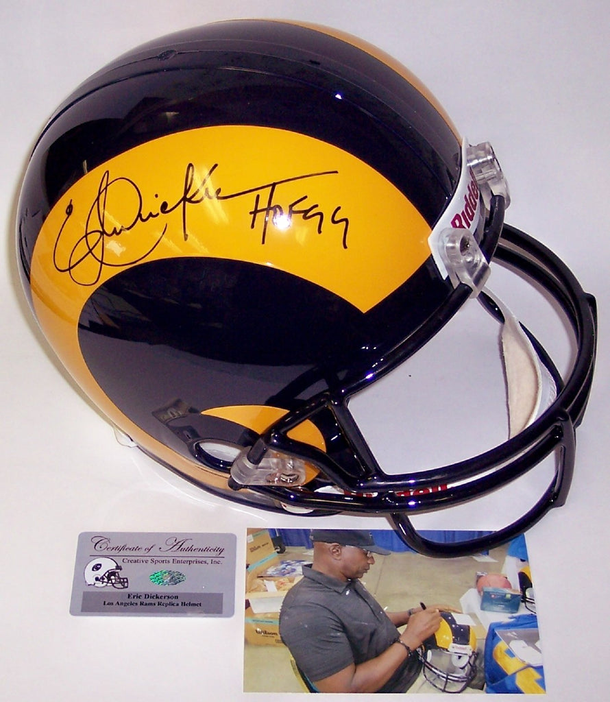 359a7cb8b11 Eric Dickerson Autographed Hand Signed Los Angeles Rams Full Size Helmet -  PSA DNA