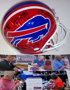 Andre Reed, Thurman Thomas, Jim Kelly, Bruce Smith & Marv Levy Hand Signed Buffalo Bills Throwback Authentic Helmet - PSA/DNA
