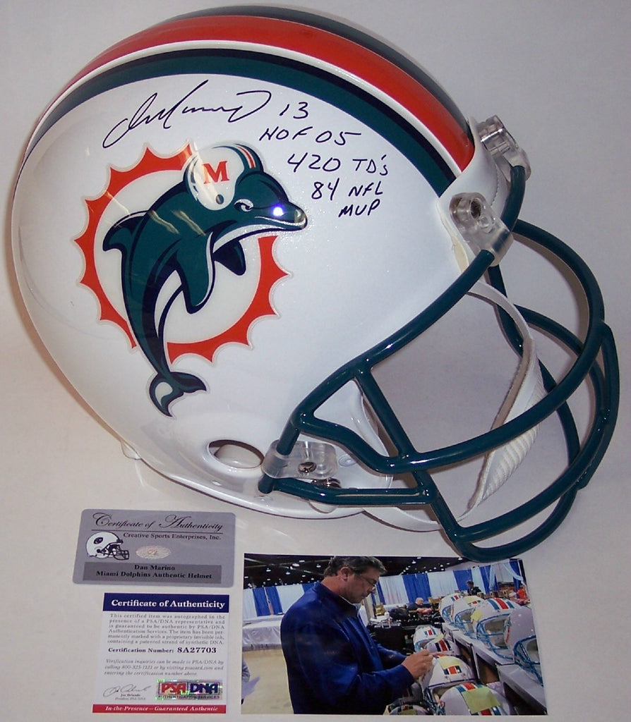 Dan Marino Autographed Hand Signed Miami Dolphins Full Size Authentic Helmet  - PSA DNA 4e1057d8e