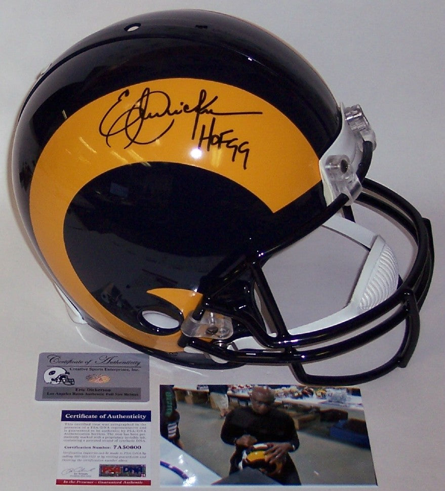 2013947d76f Eric Dickerson Autographed Hand Signed Los Angeles Rams Throwback Authentic  Helmet - PSA DNA