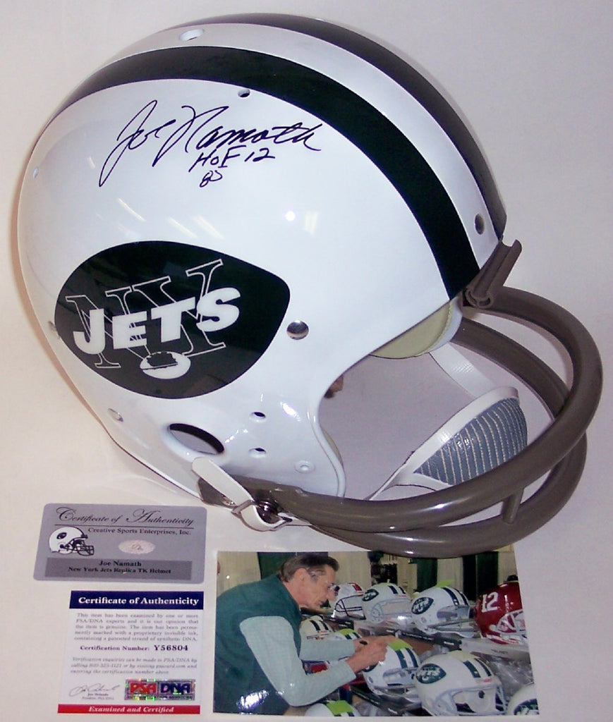 af945667d97 Joe Namath Autographed Hand Signed New York Jets Throwback Full Size Helmet  - PSA DNA