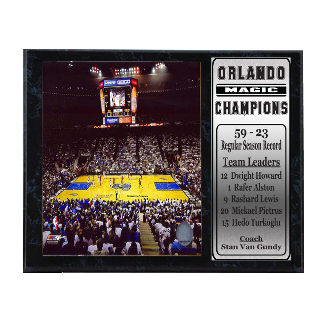 12x15 Stat Plaque - Orlando Magic Amway Arena