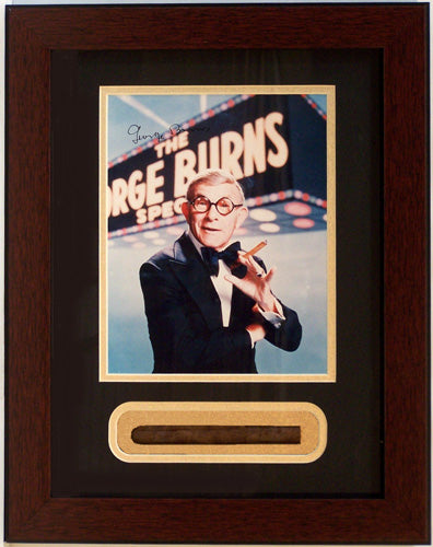 12x18 Autographed Shadowbox - George Burns with Cigar