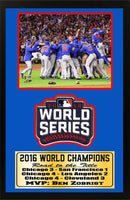 12x18 Patch Frame - Chicago Cubs 2016 World Series Champions