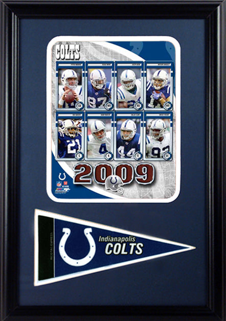 12x18 Pennant Frame - 2009 Indianapolis Colts