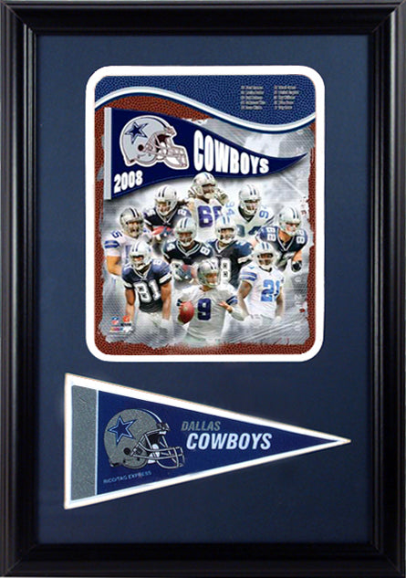12x18 Pennant Frame - 2008 Dallas Cowboys