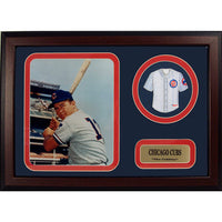 12x18 Mini Jersey Frame - Ron Santo Chicago Cubs