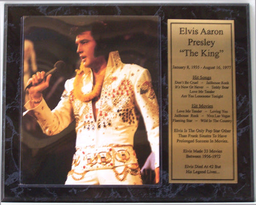 12x15 Stat Plaque - ElvIs Presley