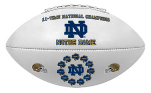 11x National Champs Notre Dame Fighting Irish Embossed Full Size Football
