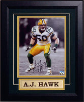 11x14 Autograph Frame - A.J. Hawk Green Bay Packers