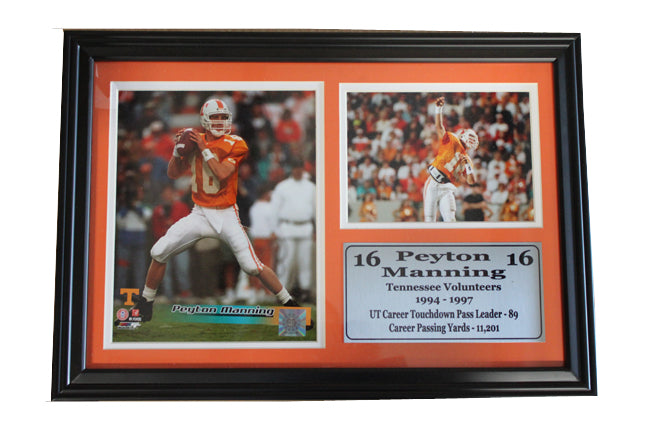 12x18 Photo Stat Frame - Peyton Manning Univ of Tennessee