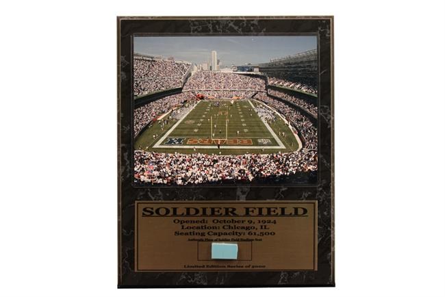 12x15 Game Used Plaque - Chicago Bears Soldier Field