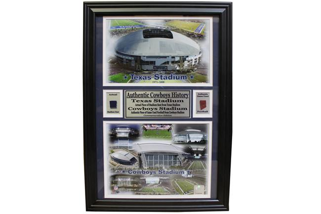 12x18 Game Used Frame - Dallas Cowboys Stadium