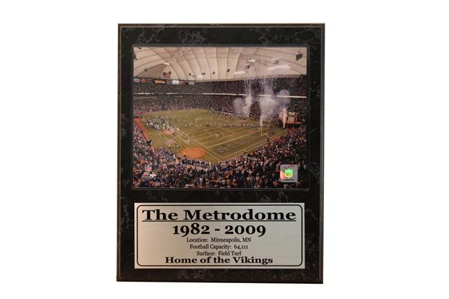 "12x15 Stat Plaque - Minnesota Vikings ""The Metrodome"""