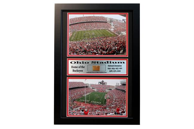 12x18 Game Used Frame - Ohio State University Ohio Stadium