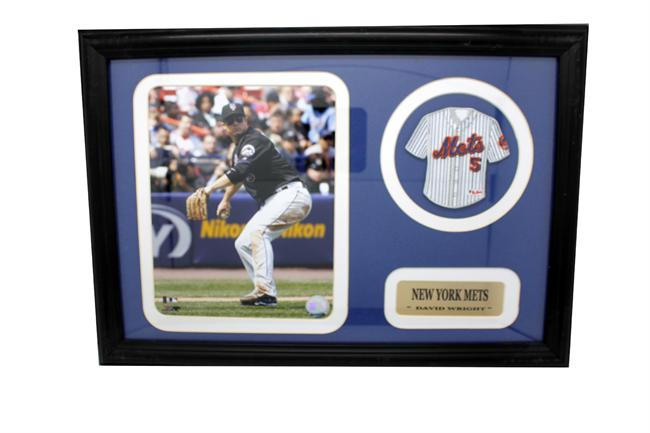12x18 Mini Jersey Patch Frame - David Wright New York Mets