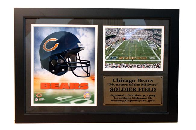 12x18 Photo Stat Frame - Chicago Bears