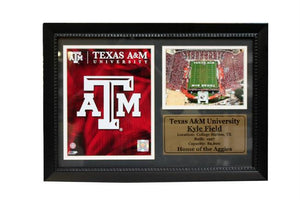 Texas A&M University Logo and Stadium Photo in a 12x18 Deluxe Frame