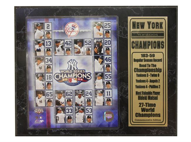 12x15 Stat Plaque - New York Yankees Champions