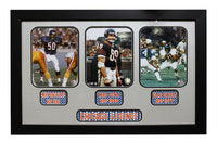 15x35 Three Photo Autographed Frame - Chicago Bears