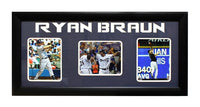 15x35 Three-Photo Frame - Ryan Braun Milwaukee Brewers