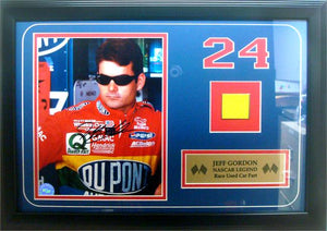 12x18 Autographed Car Piece Frame - Jeff Gordon