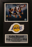 12x18 Patch Frame - Kobe Bryant Los Angeles Lakers