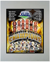11x14 Mat - Pittsburgh Steelers Champions