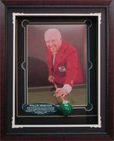 Autographed Shadow Box W/Pool Ball - Willie Mosconi
