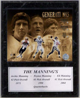 12x15 Stat Plaque - The Mannings Generations
