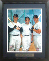 11x14 Deluxe Frame - Roger MarIs, Yogi Berra and Mickey Mantle