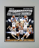 11x14 Champs Mat - San Antonio Spurs