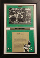 "12x18 Double Frame - Notre Dame ""Hometown Heroes 51 yards"""