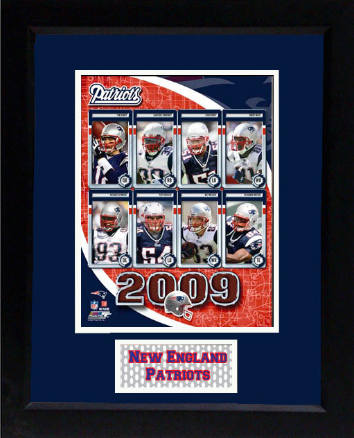11x14 Deluxe Frame - 2009 New England Patriots