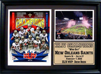 12x18 Photo Stat Frame - New Orleans Saints Champions