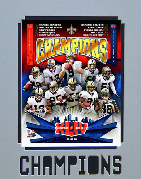11x14 Champions Mat - New Orleans Saints