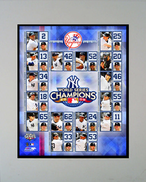 11x14 Mat - New York Yankees Champions