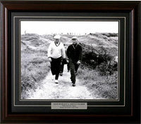 11x14 Deluxe Frame - Jack Nicklaus and Arnold Palmer BW