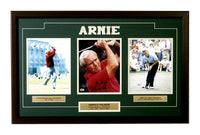15x35 Three Photo Autographed Frame - Arnold Palmer