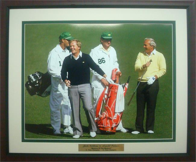 20x24 Custom Frame - Jack Nicklaus & Arnold Palmer Masters of the Masters