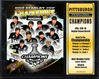 12x15 Stat Plaque - Pittsburgh Penguins Champions