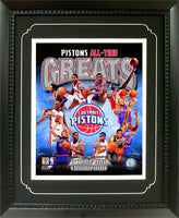 11x14  Deluxe Frame - Detroit Pistons Greats