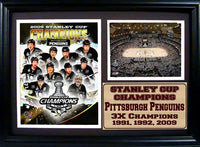 12x18 Photo Stat Frame - Pittsburgh Penguins Champions