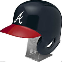 Atlanta Braves Rawlings Full Size Batting Helmet - Left Ear Flap - with Display stand