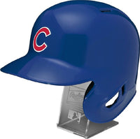 Chicago Cubs Rawlings Full Size Batting Helmet - Left Ear Flap - with Display stand