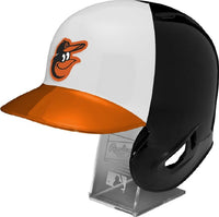 Baltimore Orioles Rawlings Full Size Batting Helmet - Left Ear Flap - with Display stand