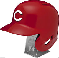 Cincinnati Reds Rawlings Full Size Batting Helmet - Left Ear Flap - with Display stand